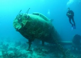 Aruba-scubadiving-divingpassport-diver-wreck-airplane